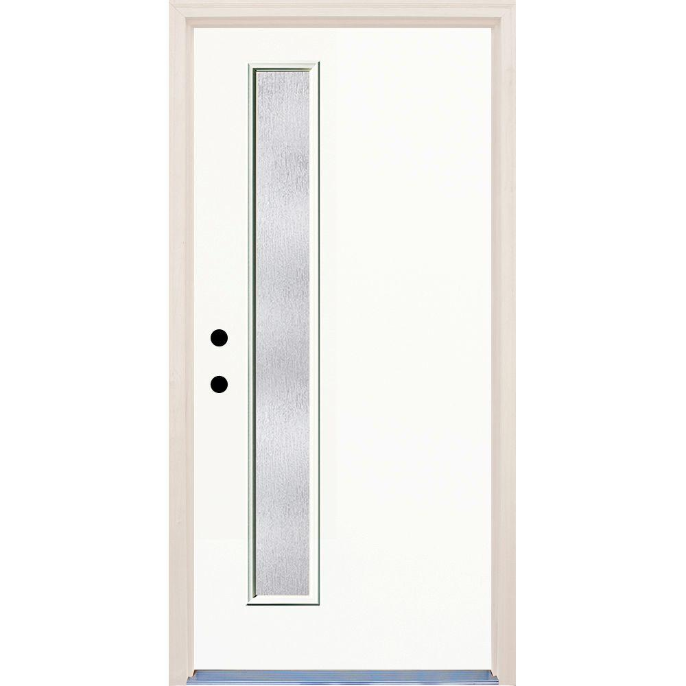 36 in. x 80 in. Classic 1 Lite Rain Glass Painted