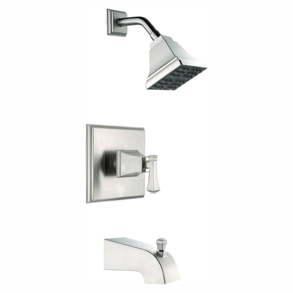Glacier Bay Exhibit Single-Handle 1-Spray Tub and Shower Faucet in Brushed Nickel (Valve Included)