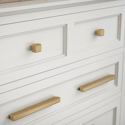 Tapered Edge 2 in. to 8-13/16 in. (51 mm to 224 mm) Champagne Bronze Adjustable Drawer Pull