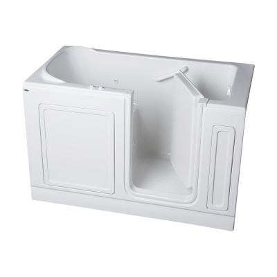 Acrylic Standard Series 60 in. x 32 in. Right Hand Walk-In Whirlpool and Air Bath Tub in White