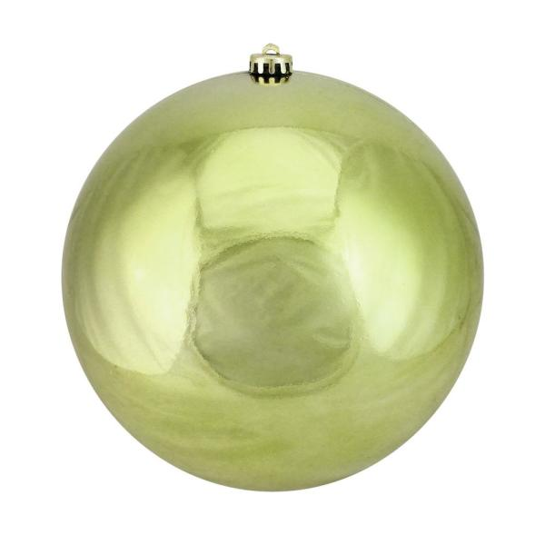 10 in. Lime Green Shatterproof Shiny Christmas Ball Ornament