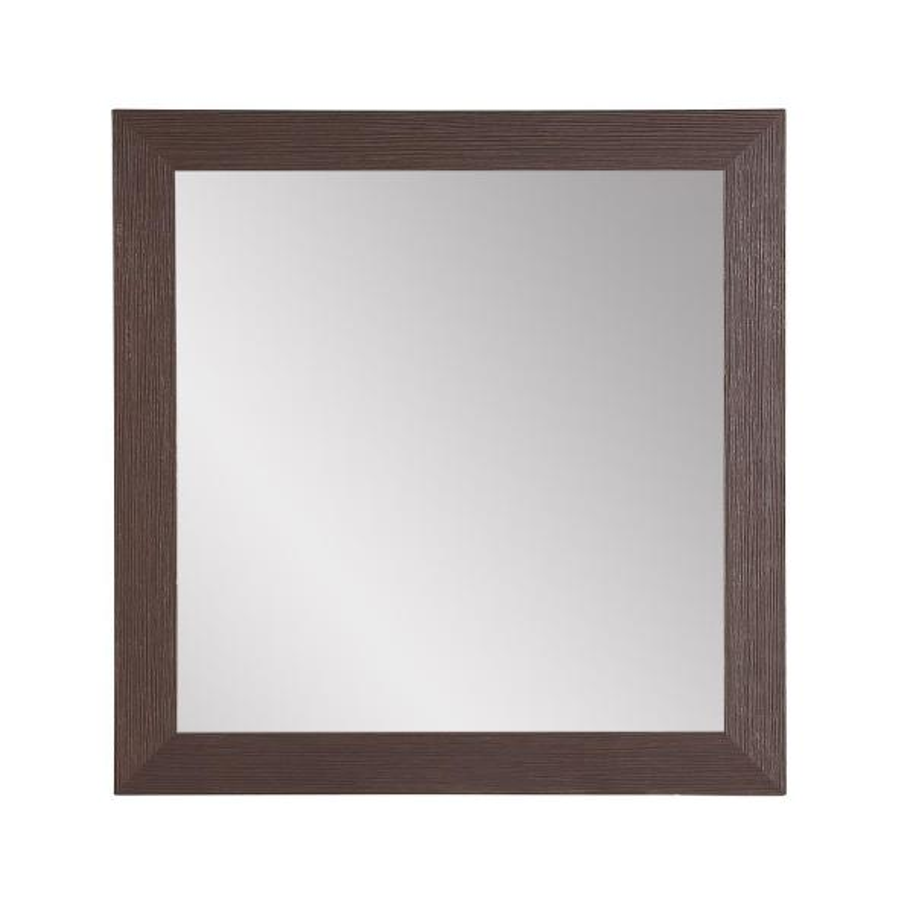 Modern Farmhouse Dark Brown Accent Mirror