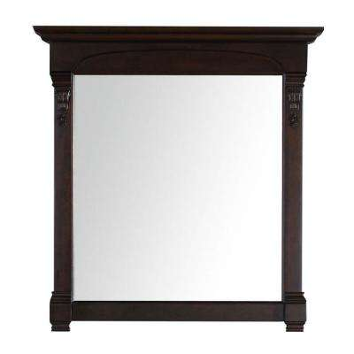 Brookfield 40 in. W x 42 in. H Framed Wall Mirror in Burnished Mahogany