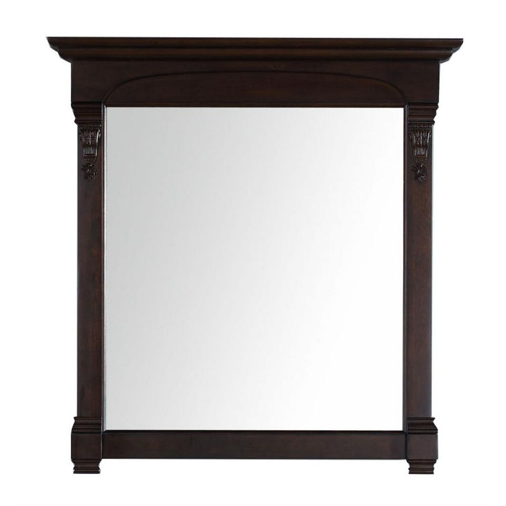 James Martin Vanities Brookfield 40 in. W x 42 in. H Framed Wall Mirror in Burnished Mahogany