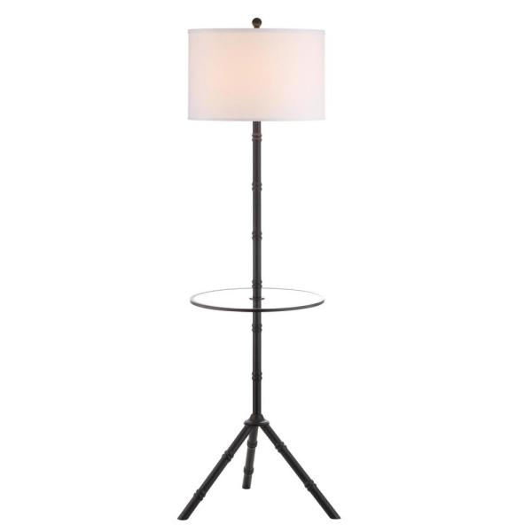Hall 62 in. Oil Rubbed Bronze Metal End Table Floor Lamp