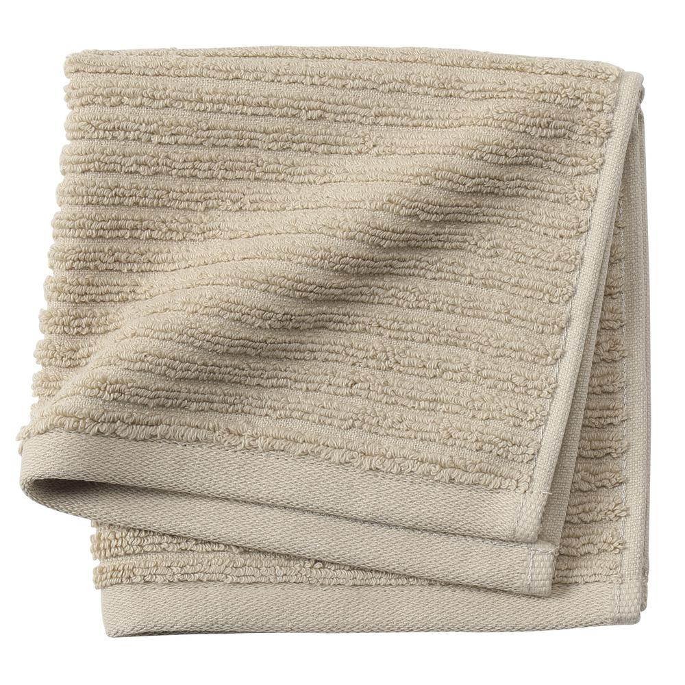 Monterey 1-Piece Ribbed Turkish Face Towel in Latte