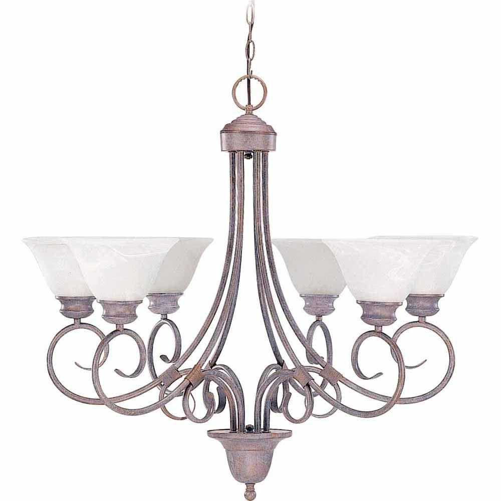 Filament Design Lenor 6-Light Prairie Rock Incandescent Ceiling Chandelier