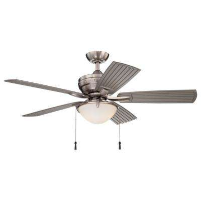 4-Winds 54 in. LED Indoor/Outdoor Brushed Nickel Ceiling Fan