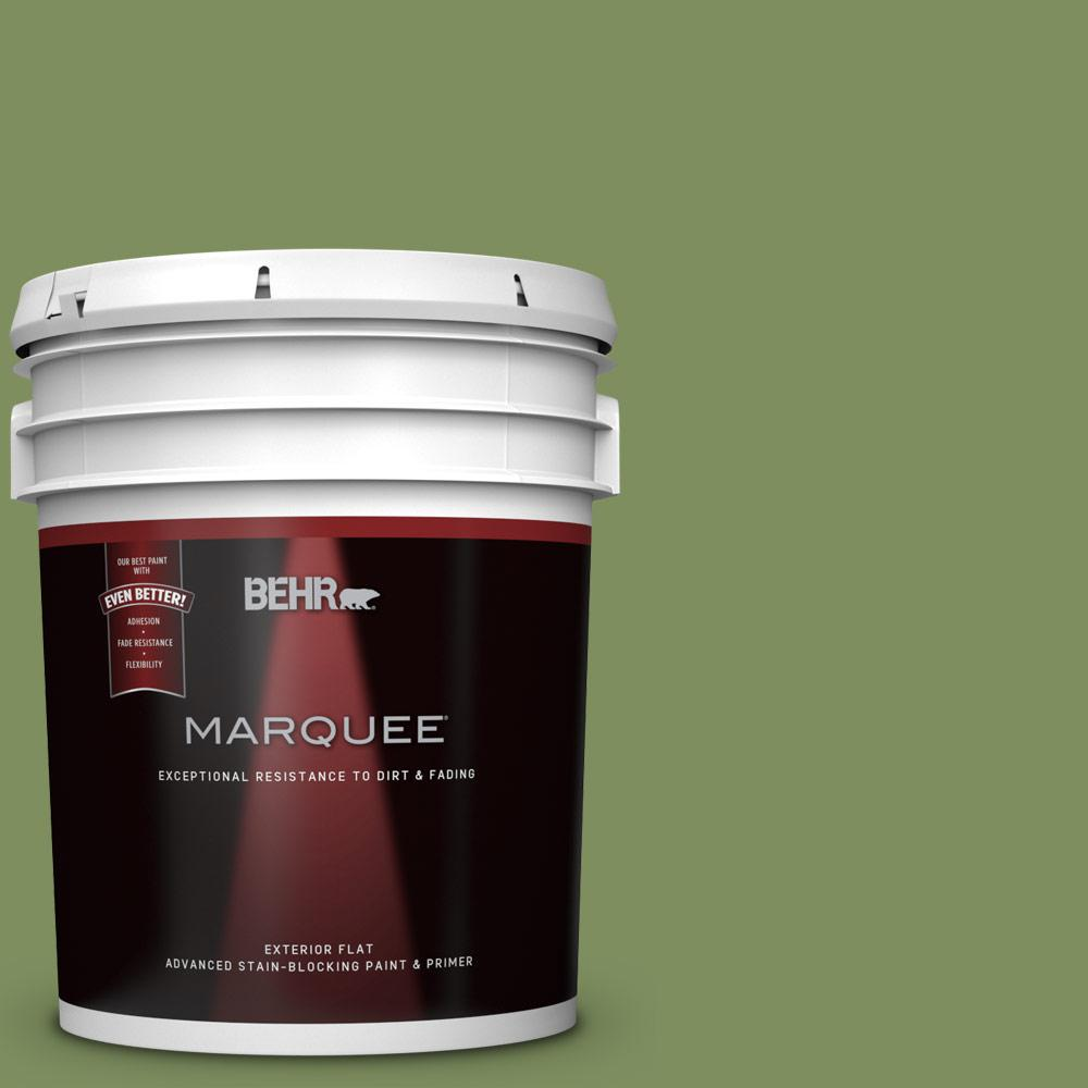 Behr marquee 5 gal ppu10 03 green energy flat exterior paint and primer in one 445305 the for Behr exterior paint with primer reviews