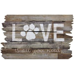 Apache Mills Love is All You Need Paw Print 18 inch x 30 inch Door Mat by Apache Mills