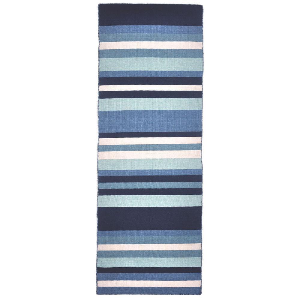 Ikea Striped Rug Runner: Tasso Bright Stripe Water 2 Ft. X 8 Ft. Runner Rug Indoor