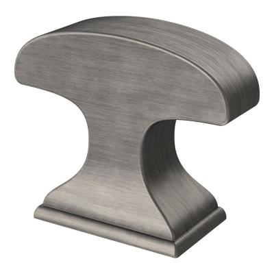 Classic Edge 1-3/8in. (35mm) Heirloom Silver Rectangular Cabinet Knob