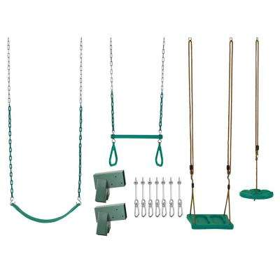 Swing Set Kit with Belt Swing Trapeze Bar Disc Swing and Standing Swing