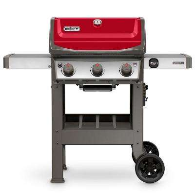 Spirit II E-310 3-Burner Propane Gas Grill in Red