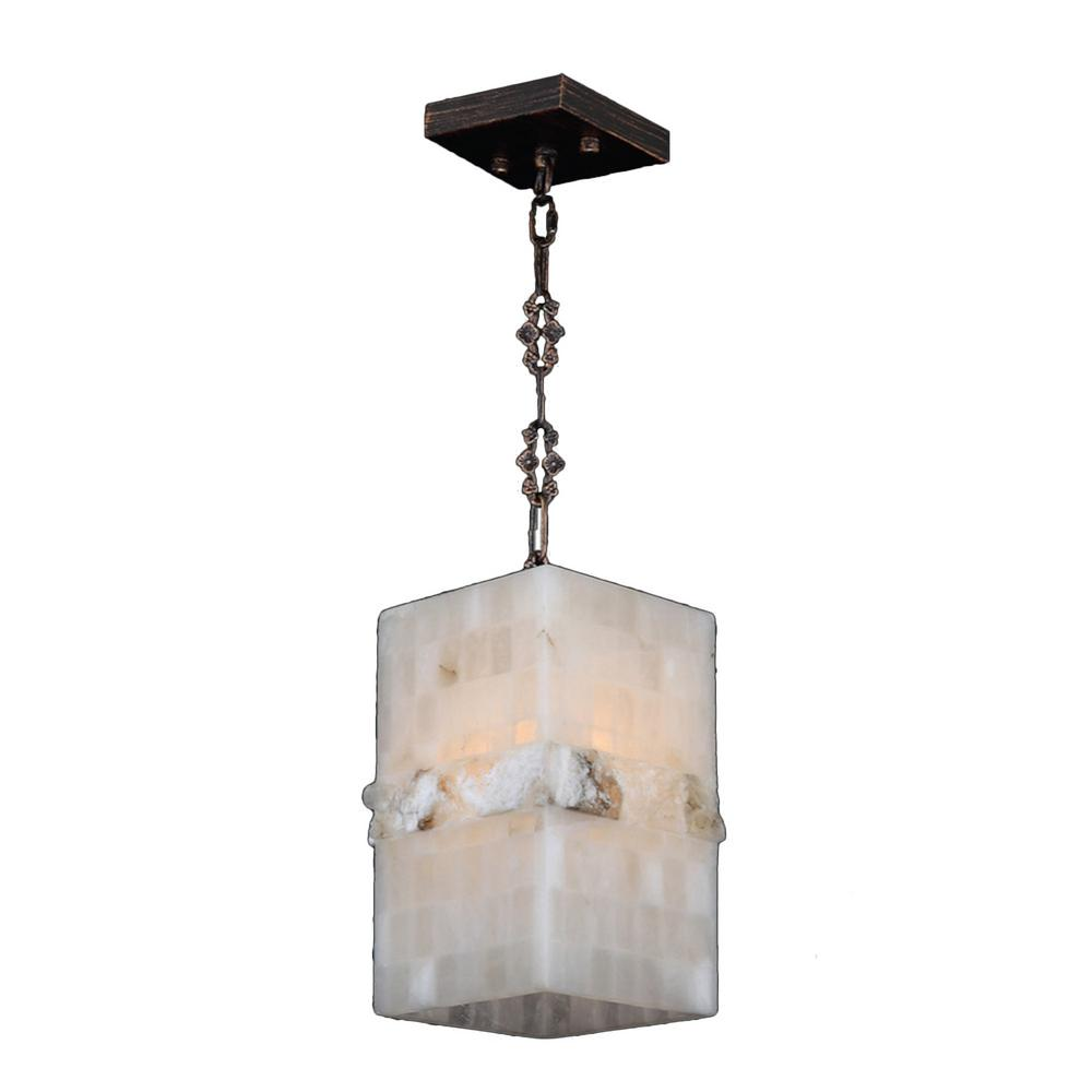 Worldwide Lighting Pompeii 1-Light Flemish Brass Natural