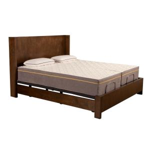 Blissful Nights 12 inch Lilac Split King Memory Foam Mattress and M1500 Adjustable Base... by Blissful Nights