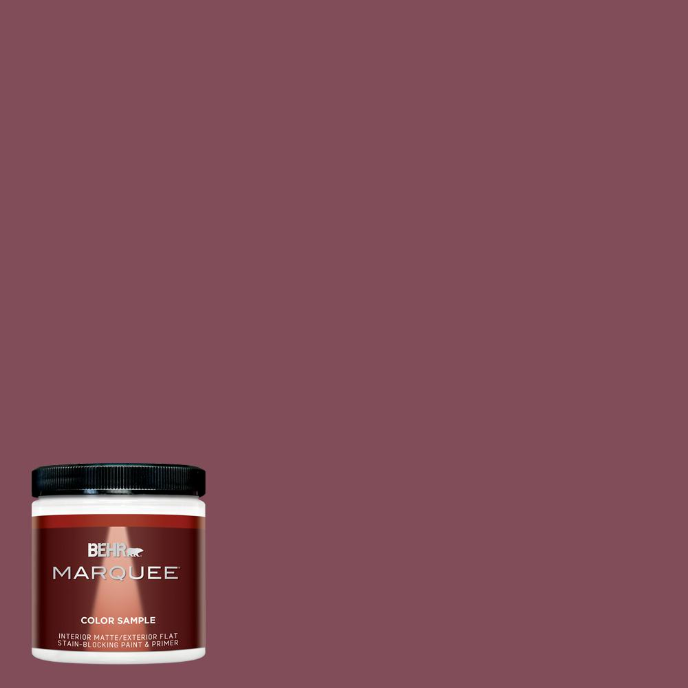 BEHR MARQUEE 8 oz. #HDC-SP14-11 Rouge Charm Matte Interior/Exterior Paint Sample