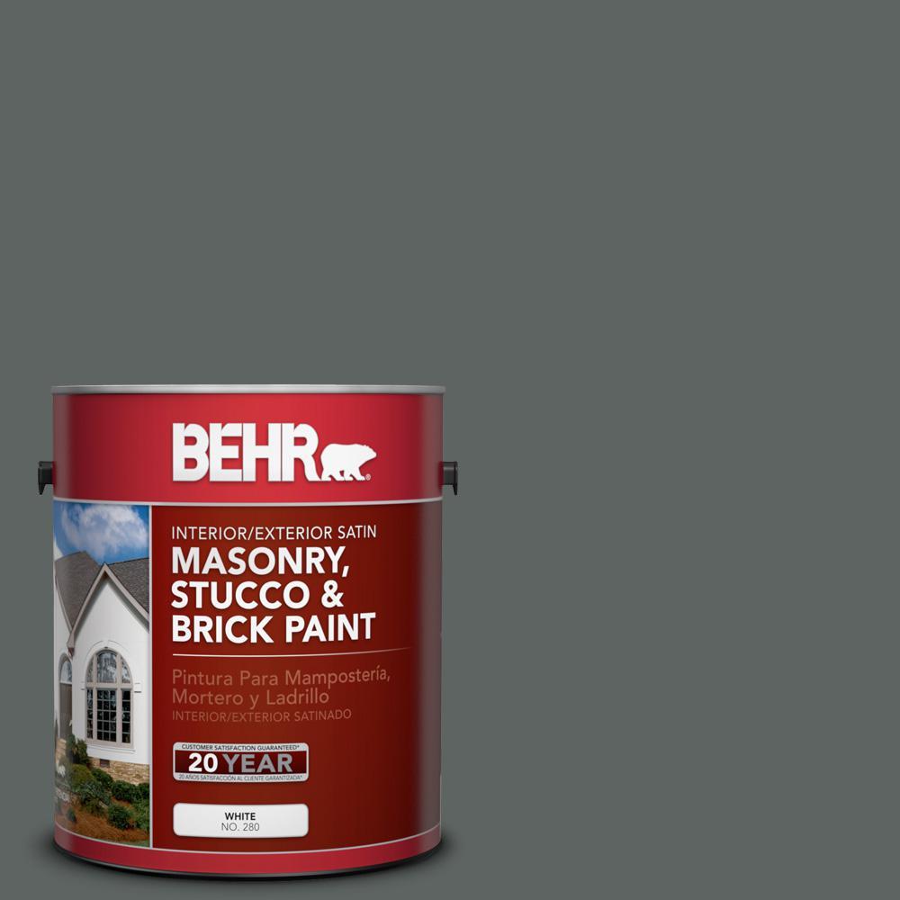 1 gal. #BXC-41 Charcoal Satin Interior/Exterior Masonry, Stucco and Brick Paint