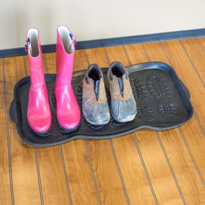 32 in. x 16 in. Rubber Boot and Shoe Mat (Set of 2)