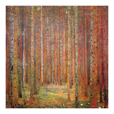 "27.5 in. x 27.5 in. ""Tannenwald by Klimt "" Wall Art"