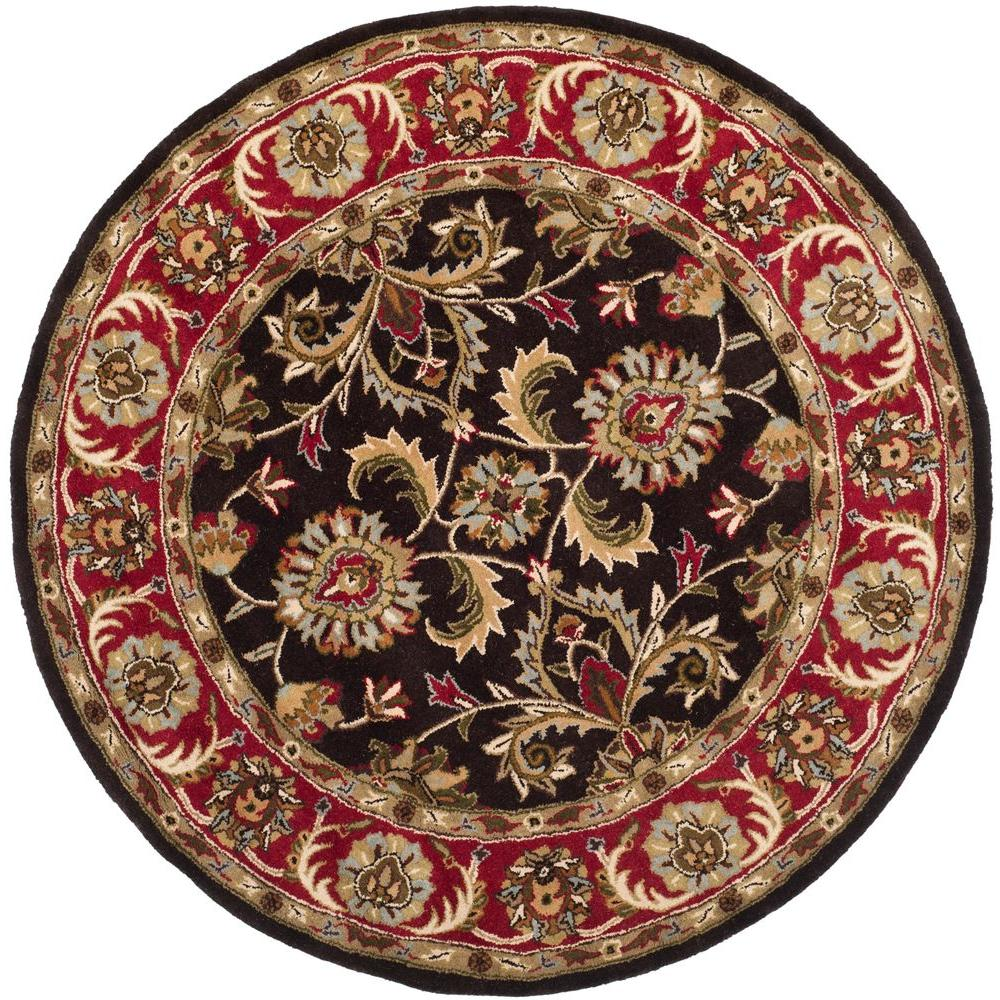 safavieh nantucket red blue multi 4 ft x 4 ft round area rug nan141b 4r the home depot. Black Bedroom Furniture Sets. Home Design Ideas