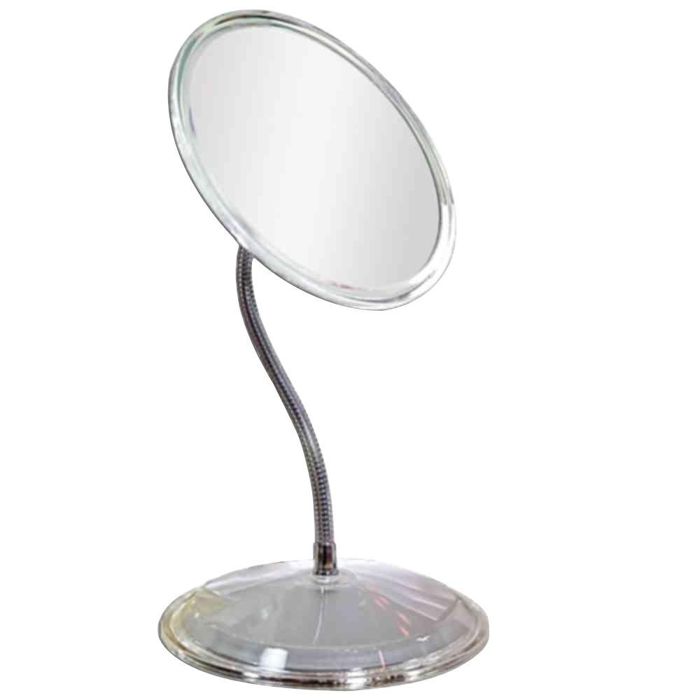 Zadro 5x acrylic suction cup mirror in clear zs06 the home depot 7x gooseneck vanity mirror in acrylic amipublicfo Gallery