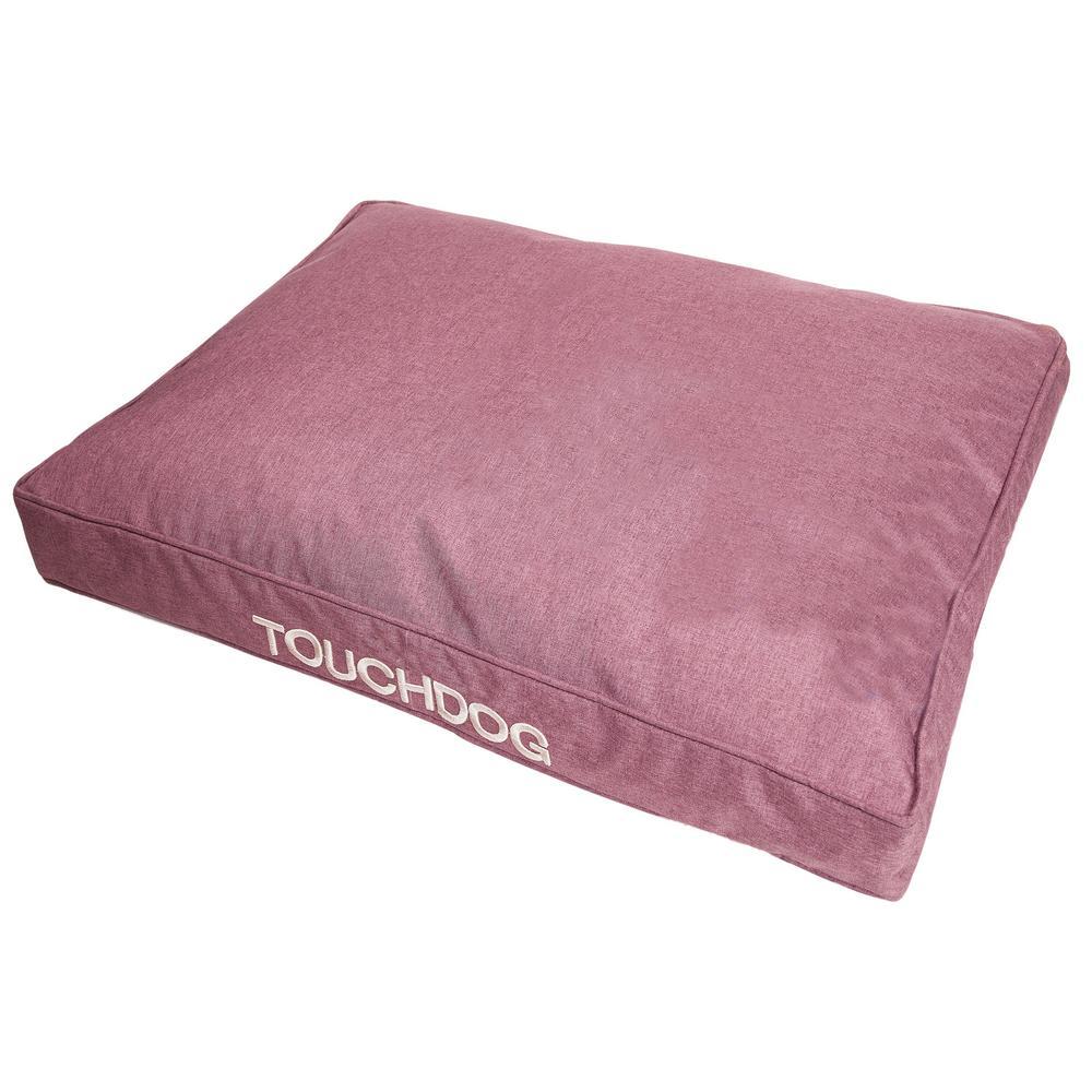 Medium Pink Husky Water-Resistant Premium Rectangular Raised Dog Mat