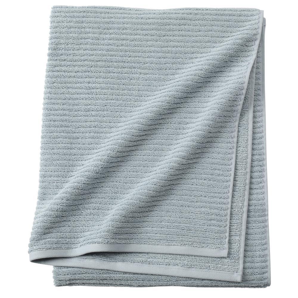 Monterey 1-Piece Ribbed Turkish Bath Towel in Spa Blue