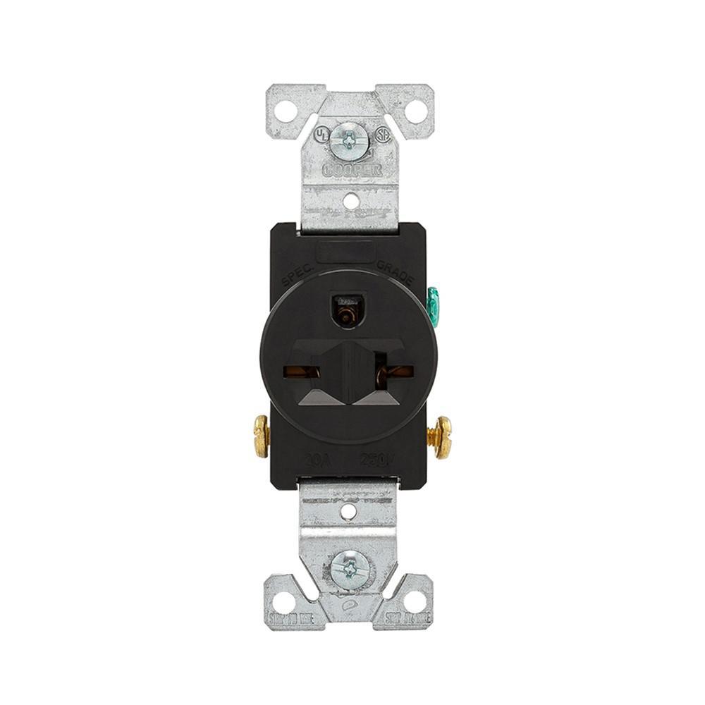 Eaton Simplex 20 Amp 250-Volt Commercial Grade Single Receptacle ...