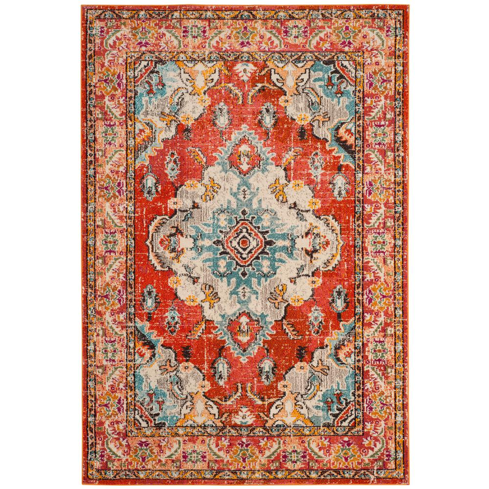 Safavieh Monaco Orange Light Blue 7 Ft X 9 Area Rug
