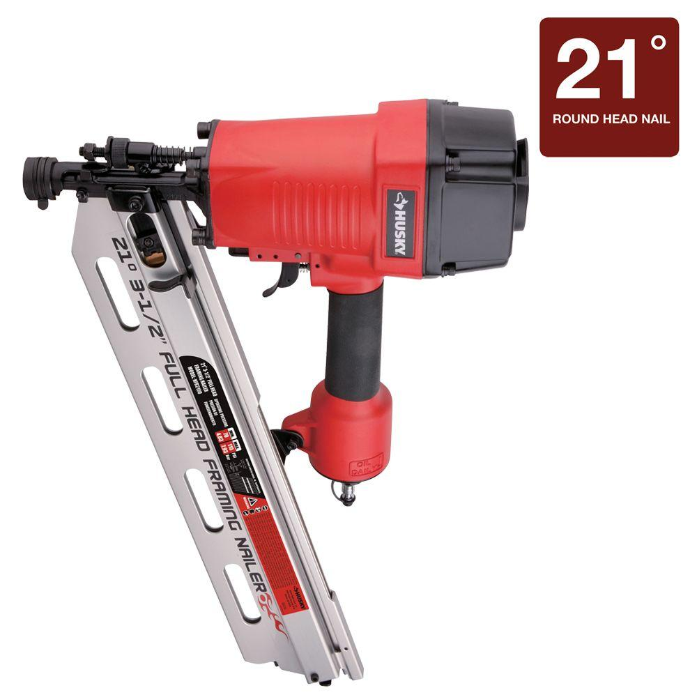 Husky Reconditioned 3-1/2 in. Class C 21-Degree Framing Nailer-DISCONTINUED
