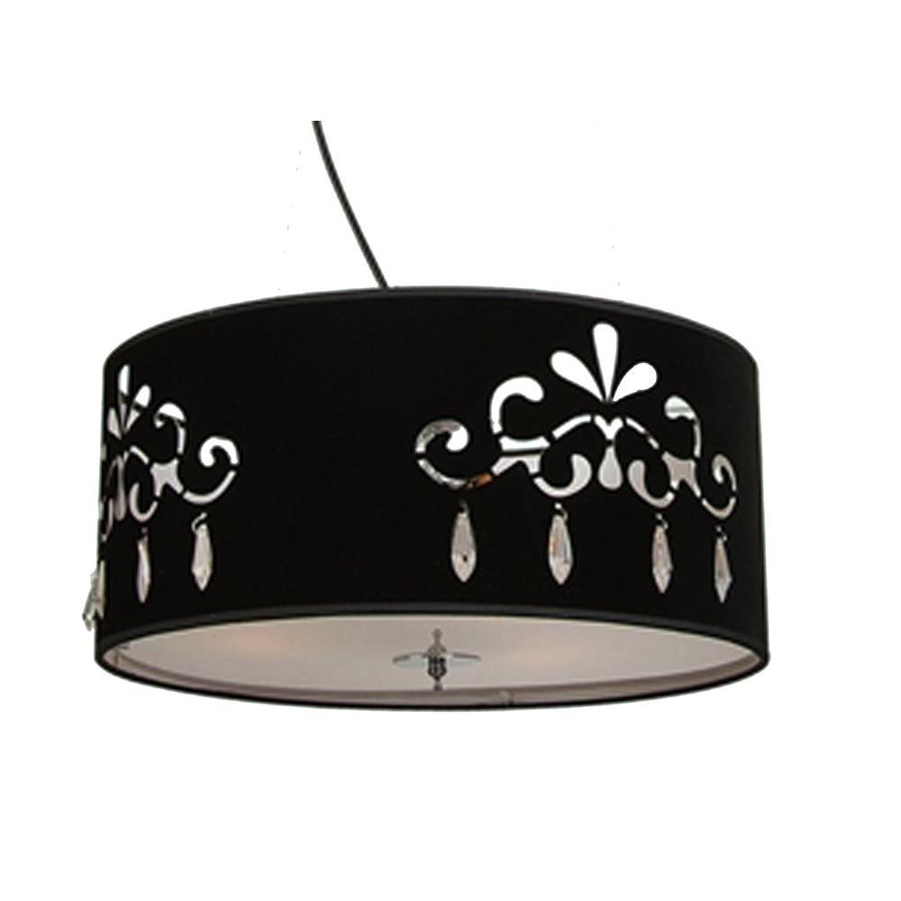 Filament Design Xavier 3-Light Black Pendant