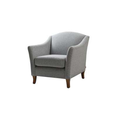 Julian Light Grey Recessed Arm Accent Chair