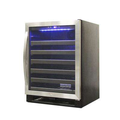 23.4 in. 54-Bottle Stainless Wine Cooler