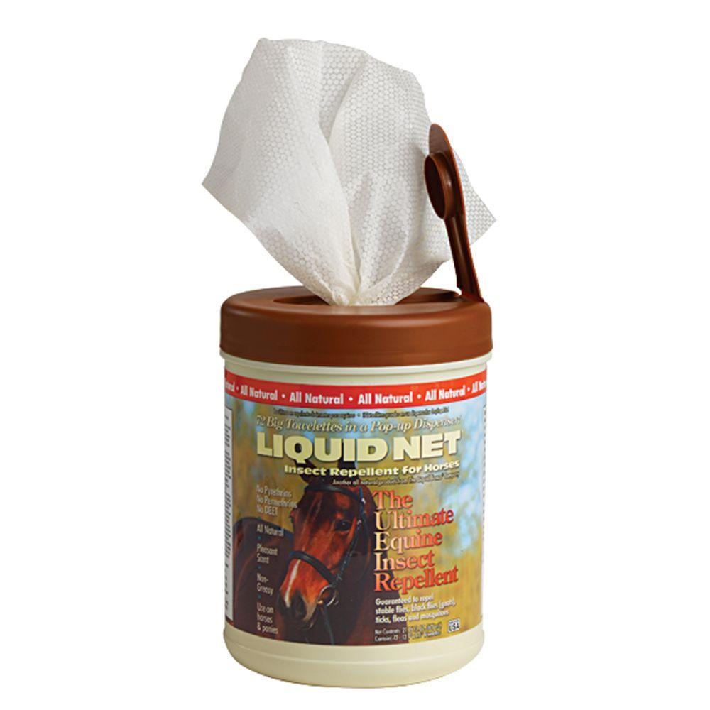 Liquid Fence Equine Insect Wipes in Bucket (72 Count)-DISCONTINUED