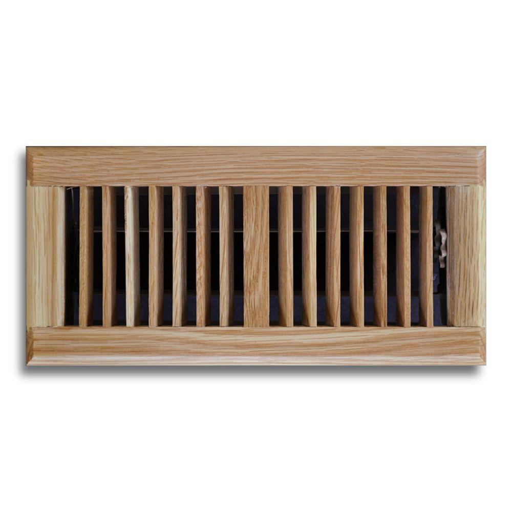 4 in. x 12 in. Oak Floor Diffuser