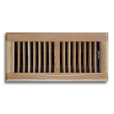 4 in. x 14 in. Oak Floor Diffuser