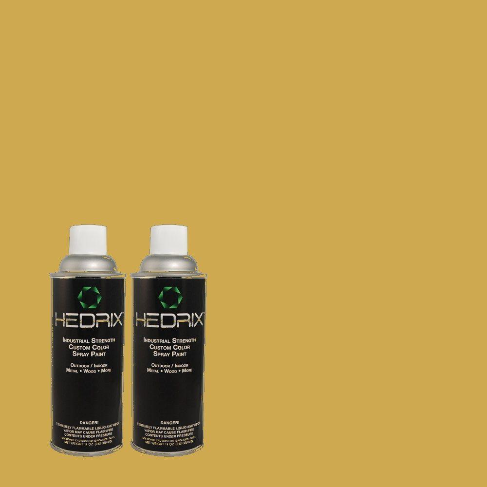 Hedrix 11 oz. Match of PPU6-18 Lemongrass Gloss Custom Spray Paint (8-Pack)