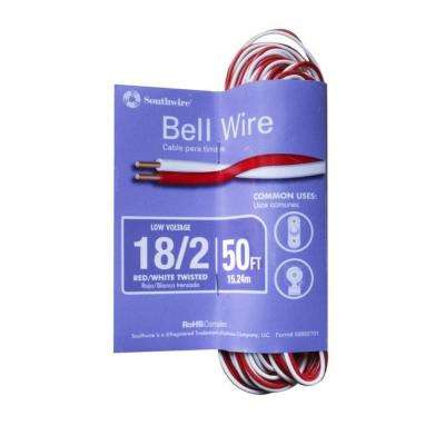 50 ft. 18/2 Bell Wire Wiring A Doorbell on 2 bells wiring for doorbell, wiring multiple doorbells, repair a doorbell, wiring switch, wiring light, household wiring doorbell, wiring smoke detectors, wiring ceiling fan,