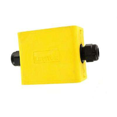 1-Gang Standard Depth Pendant Style Cable Dia 0.230 in. - 0.546 in. Portable Outlet Box, Yellow