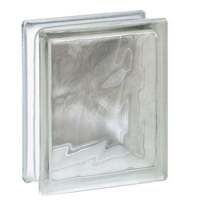Nubio 5.75 in. x 7.75 in. x 3.12 in. Wave Pattern Glass Block (10-Pack)