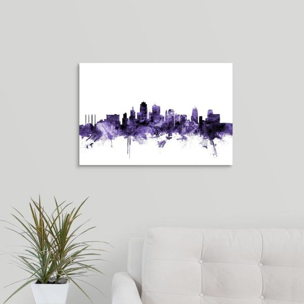 VANCOUVER SKYLINE MAP Print Poster Watercolour Framed Canvas Wall Art Gift CITY
