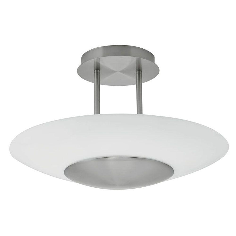 EGLO Oiram 1-Light Wall or Ceiling Matte Nickel Light