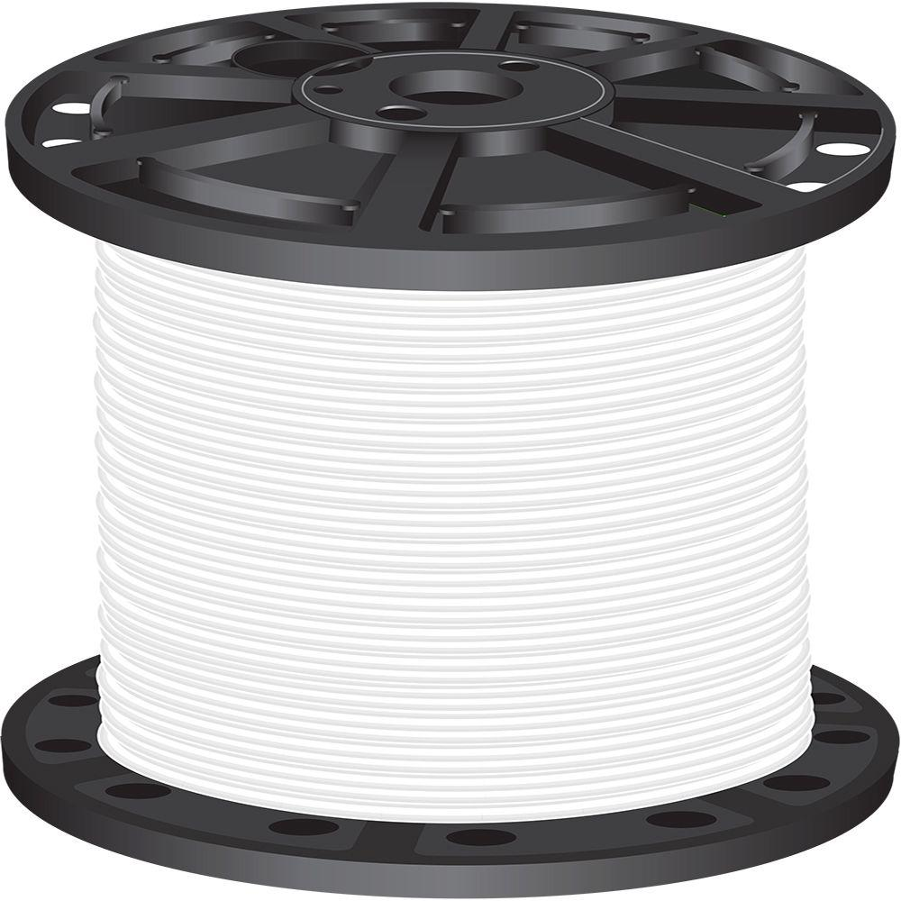 Southwire 50 Ft 12 White Stranded Cu Thhn Wire 22965883 The Home 250 2 Nmb 1000 4 Simpull
