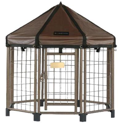 Low Profile 3 ft. Outdoor Pet Gazebo Dog Kennel