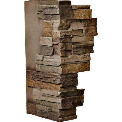 1-1/2 in. x 12 in. x 25 in. Terrastone Urethane Dry Stack Stone Outer Corner Wall Panel