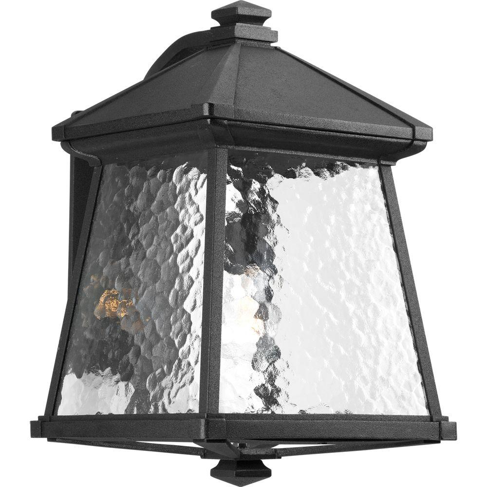 Mac Collection 1-Light Outdoor Black Wall Lantern