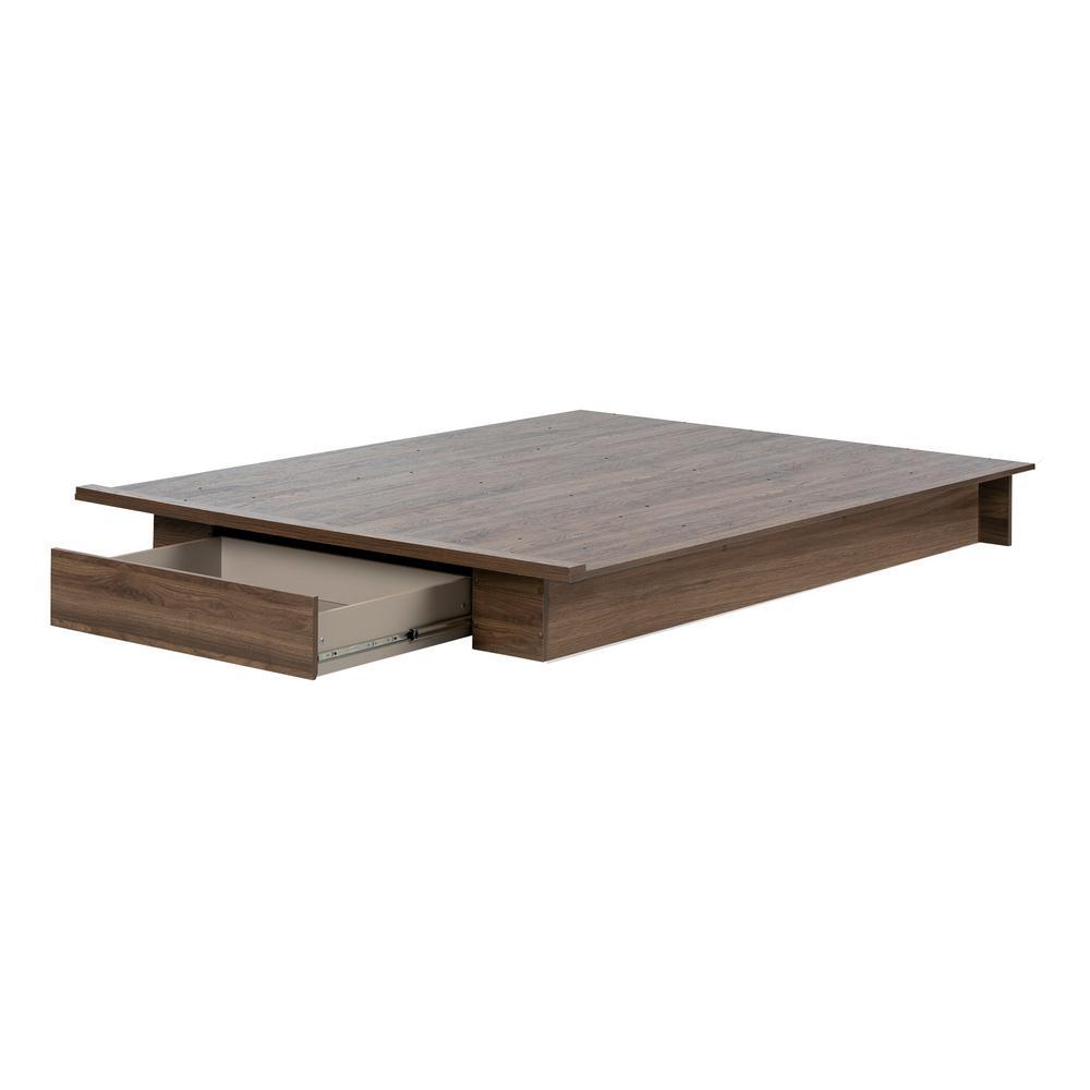 Tao Natural Walnut Full/Queen Bed