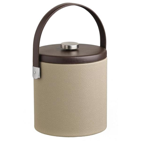 Kraftware Cosmopolitan 3 Qt. Latte Ice Bucket with Strap Handle and