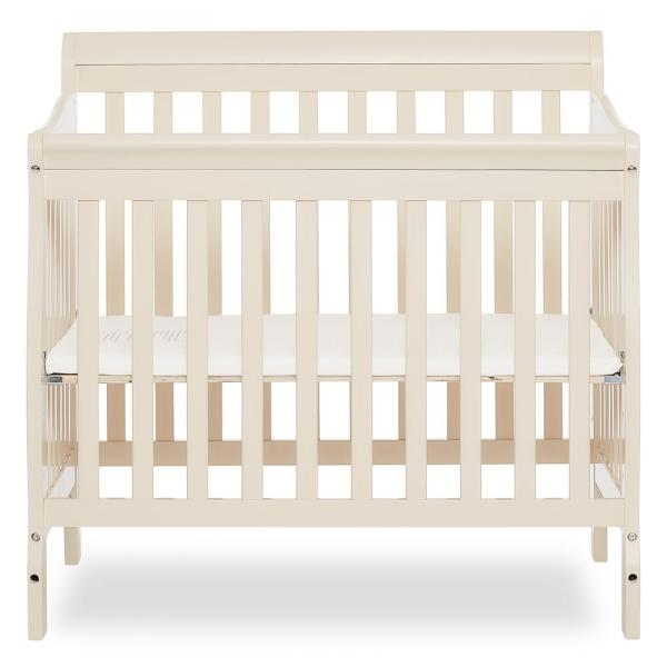 Dream On Me Aden French White 4-in-1 Convertible Mini Crib 628-FW